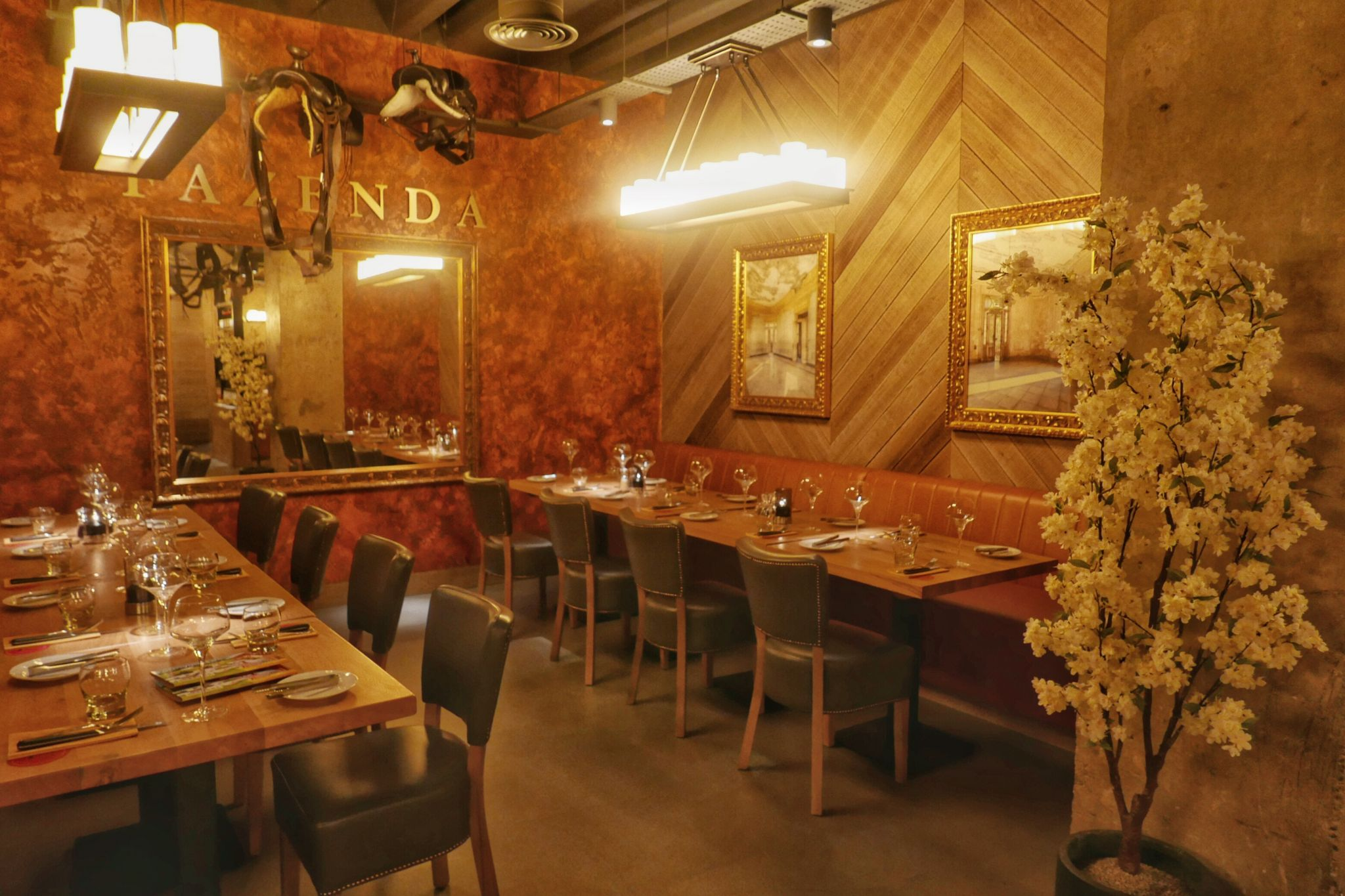 Pretty interior of Fazenda Birmingham. Planning on eating out in Birmingham? A Brummie Home and Abroad decided to spend January trying out new breakfast, lunch and dinner spots