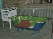 Seating options at Szimpla Kert