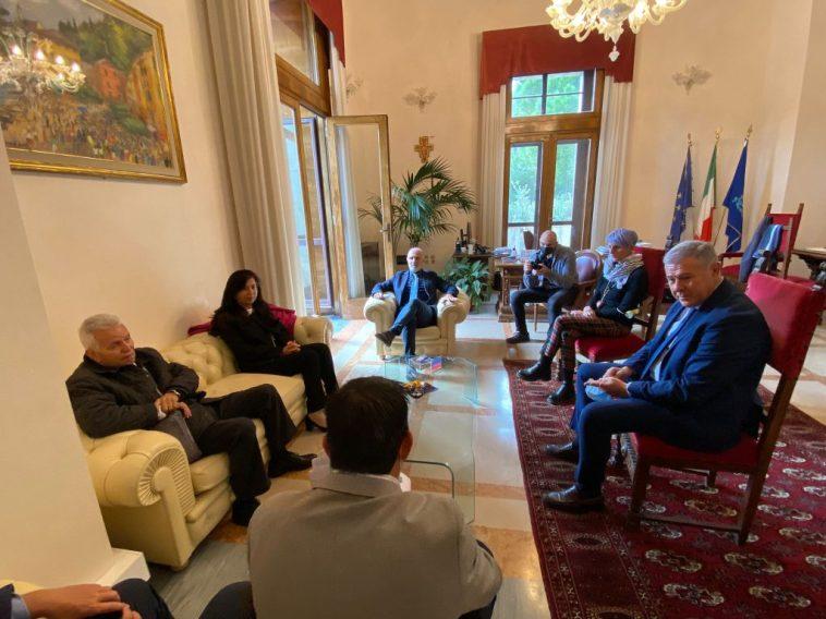 L'ambasciatrice palestinese Se Abeer Odeh in visita al comune di Pescara