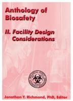 Anthology of Biosafety II: Facility Design Considerations