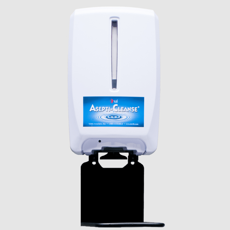 Cleanroom Alcohol dispenser for gloved hands. Hands free operation