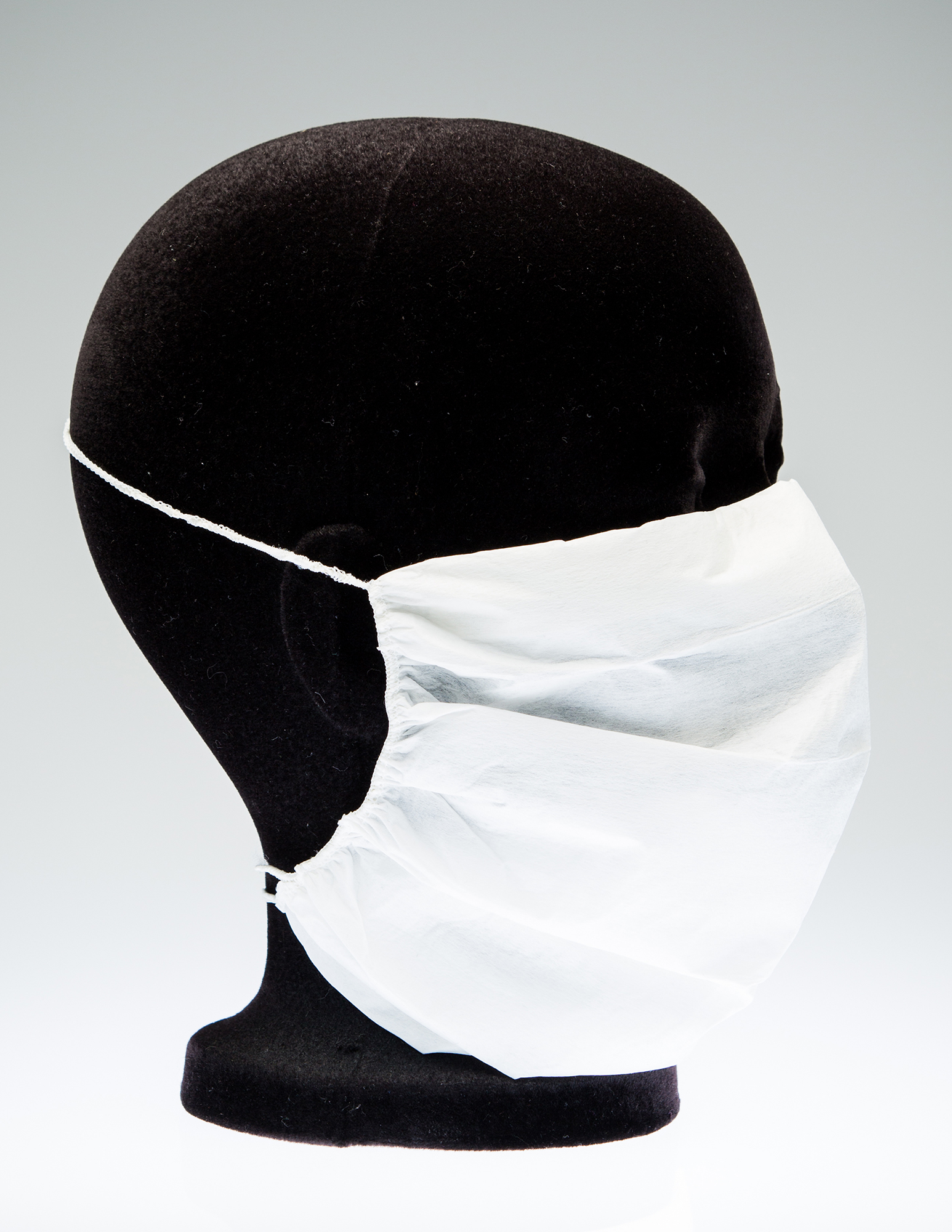 Disposable face masks for use in cleanrooms.