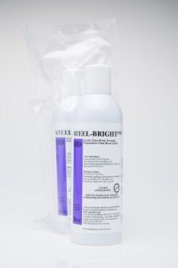 Steel-Bright stainless steel cleaner and protection for stainless steel in cleanrooms