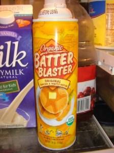 sprayed on pancake batter