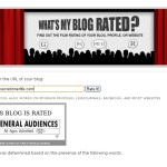 What is your blog rated?