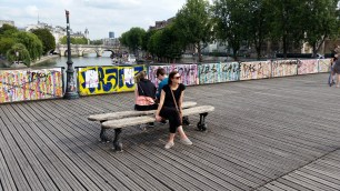 Another day we hung out at Pont des Arts.