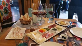 "Antipasti: Chesses, meats, anchovies, truffle ""caviar"" and more..."