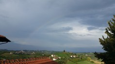 Came home to a rainbow over the countryside