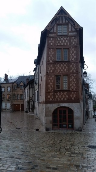 Medieval buildings like these lined the old part of the city.