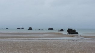 Remains of the Mulberry Harbor built at Arromanches.