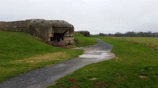 The only remaining German battery. This was outside Longues-sur-Mer.