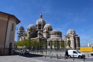 The Cahthedrale La Major. Byzantine architecture is prominent in Marseille, instead of the typical gothic style found throughout France.