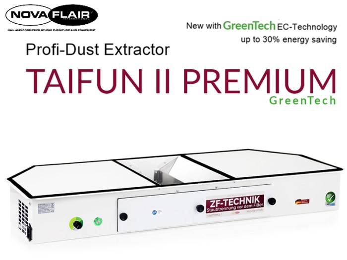 Taifun 2 Premium Nail Salon Dust Collection Filtration System Nova Flair UK