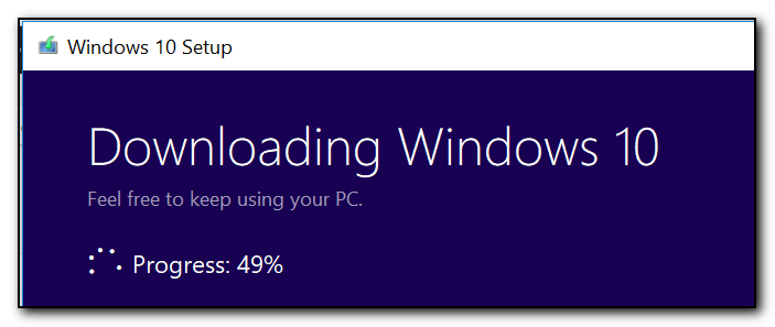 Installing Windows 10 Fall Creators Update