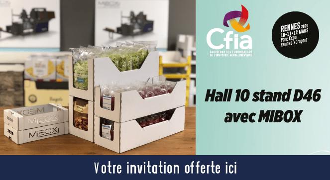 CFIA, CFIA RENNES, absoltech, mibox, machine à carton, formeuse, barquetteuse CFIA 2019