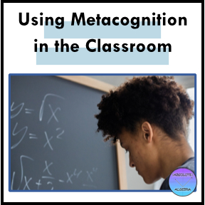 Metacognition in the classroom, student taking notes on black board