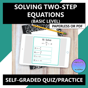 Solving Two-Step Equations Google Form