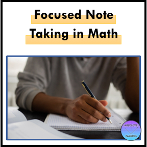 Focused Note Taking, student taking notes