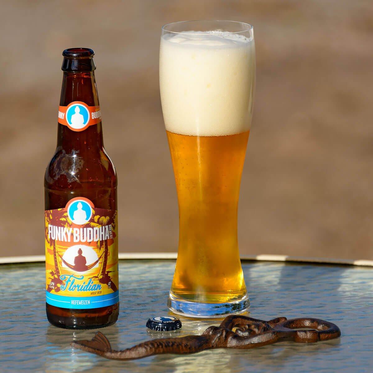 Floridian Hefeweizen, a German-style Hefeweizen by Funky Buddha Brewery