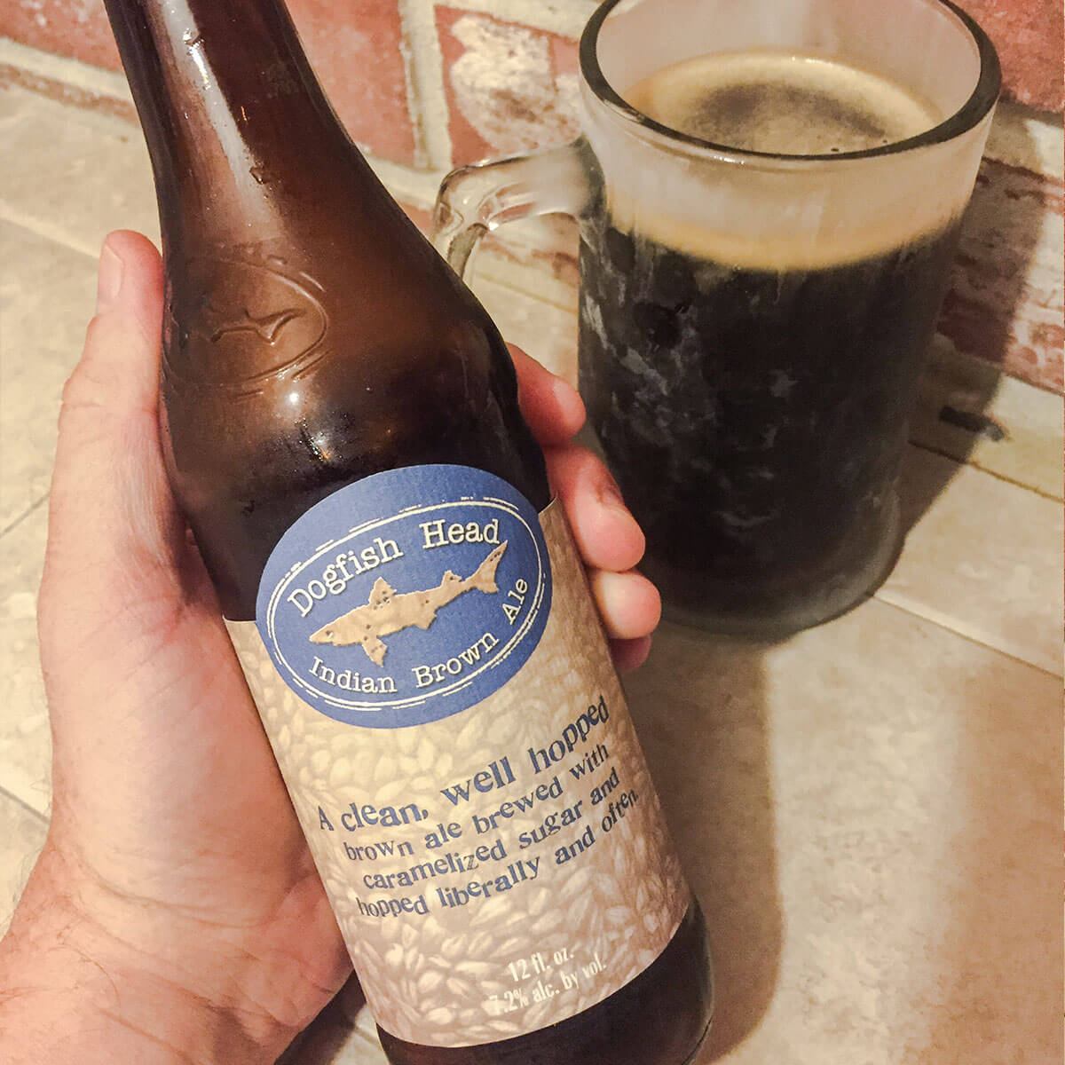 Indian Brown Ale, an American Brown Ale by Dogfish Head Craft Brewery