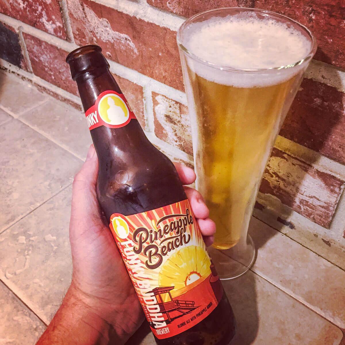 Pineapple Beach, an American Blonde Ale by Funky Buddha Brewery
