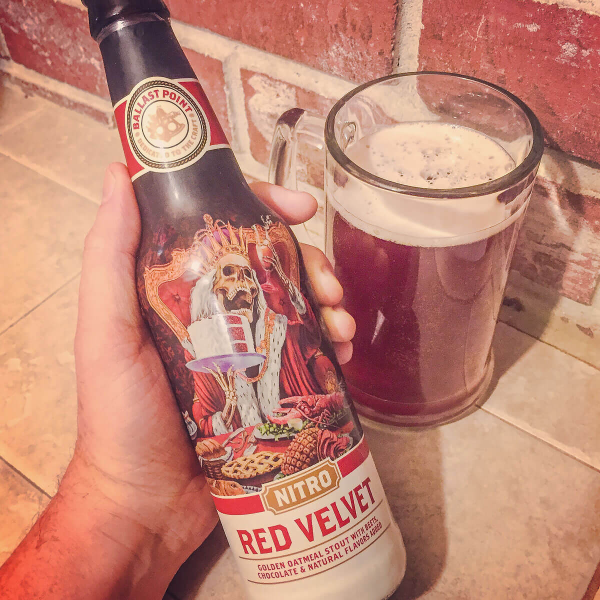 Red Velvet (Nitro), an English-style Oatmeal Stout by Ballast Point Brewing Company