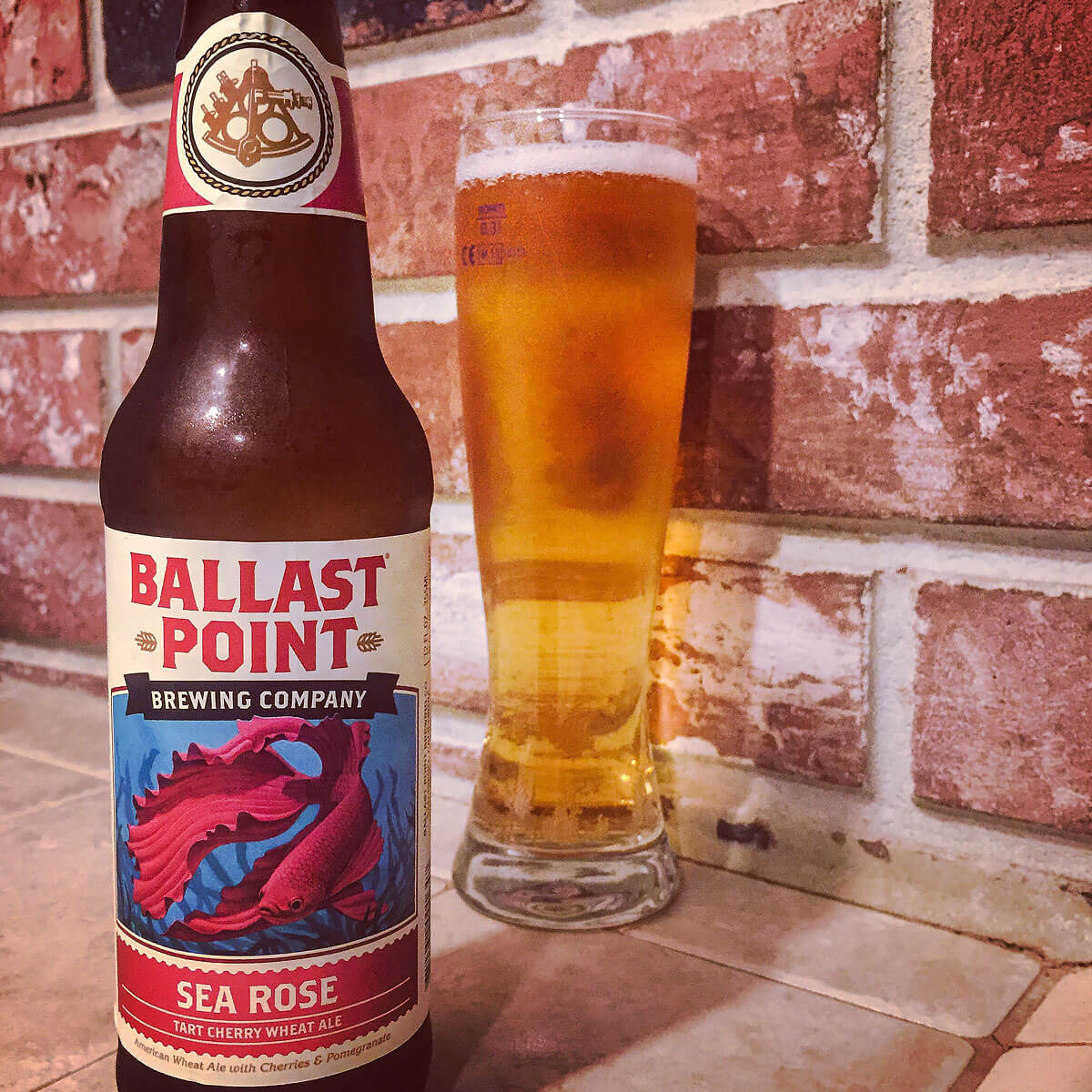 Sea Rose, an American Wheat Ale by Ballast Point Brewing Company