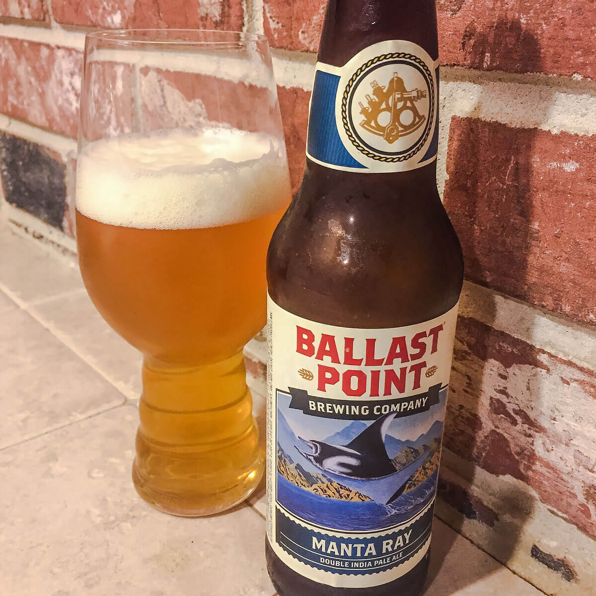 Manta Ray, an American Double IPA by Ballast Point Brewing Company