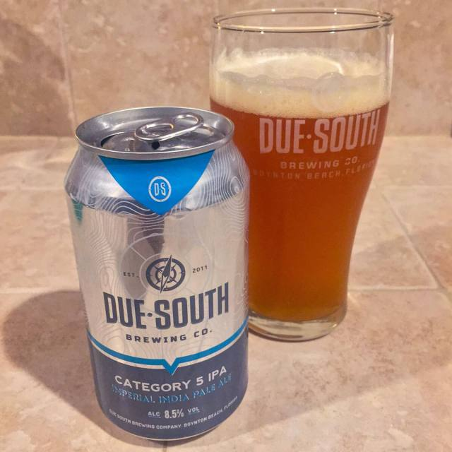 Category 5, an American Double IPA by Due South Brewing Co.