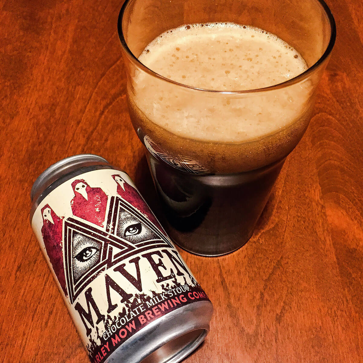 Maven, a Milk Stout by Barley Mow Brewing Company