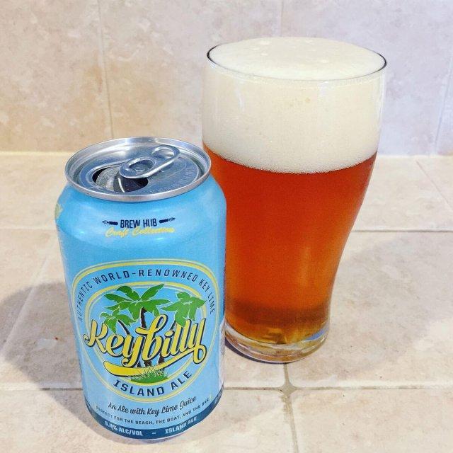 Keybilly Island Ale, an American Amber Ale by Brew Hub