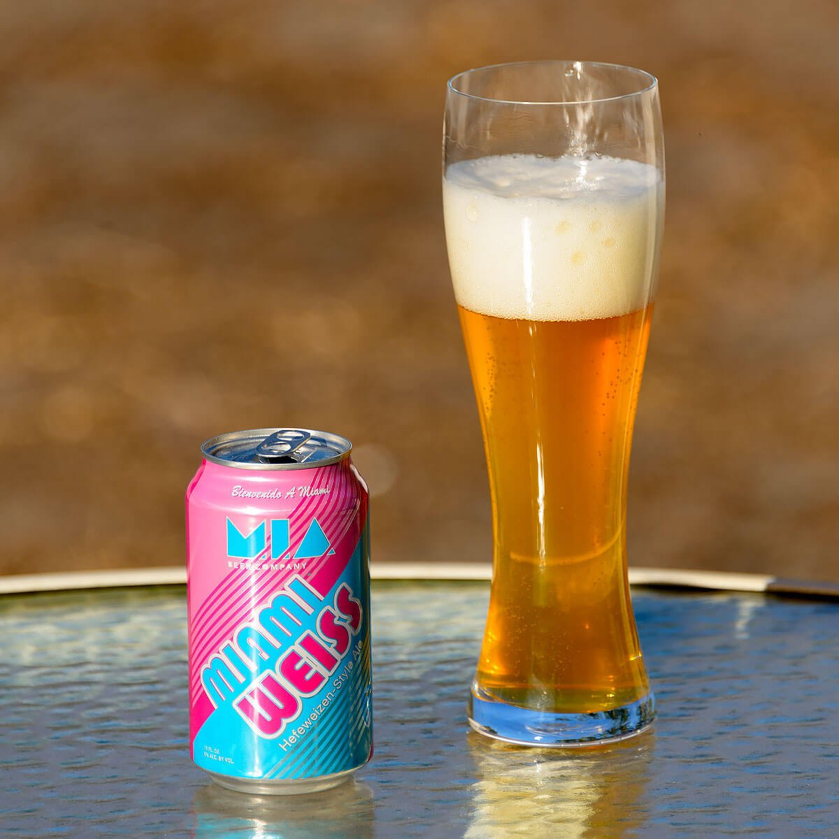 Miami Weiss, a German-style Hefeweizen brewed by MIA Beer Co.