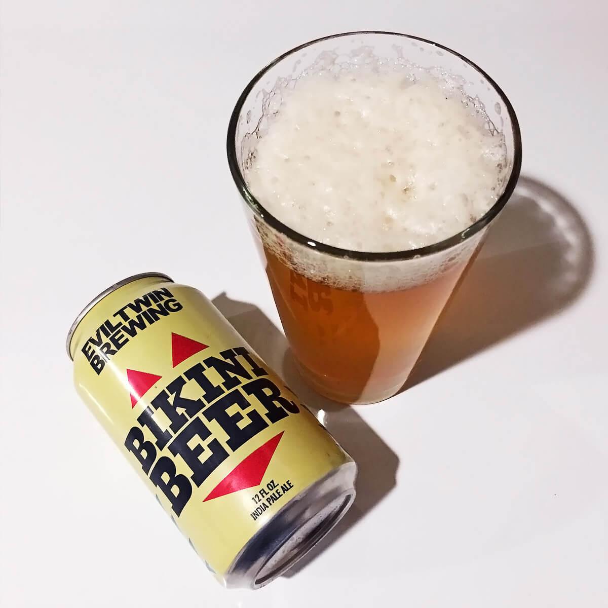 Bikini Beer, an American Session IPA by Evil Twin Brewing