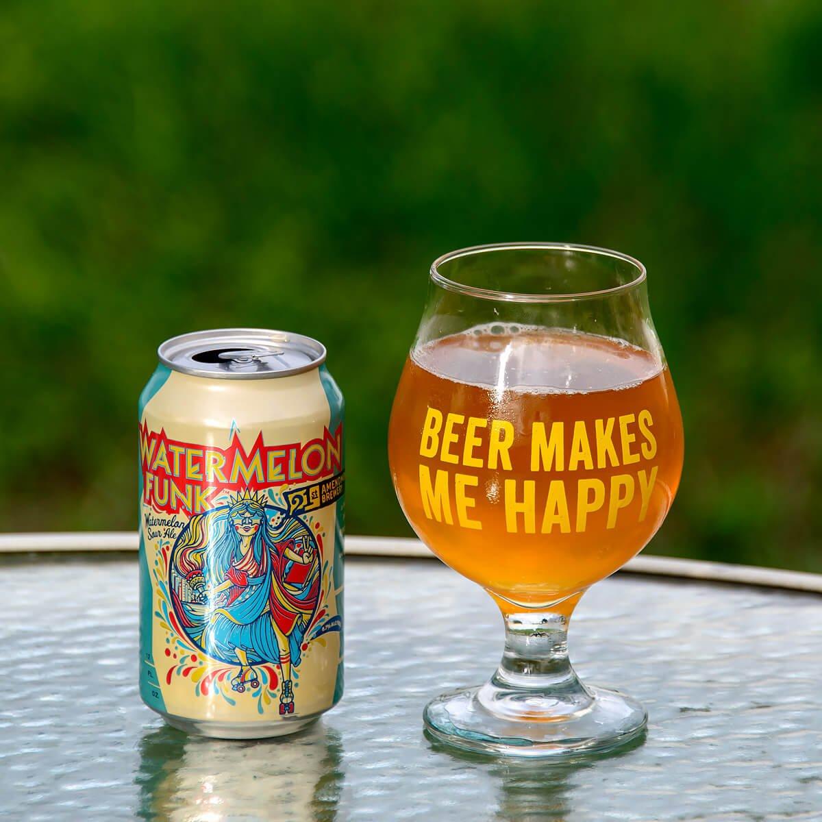 Watermelon Funk, an American Wild Ale brewed by 21st Amendment Brewery.