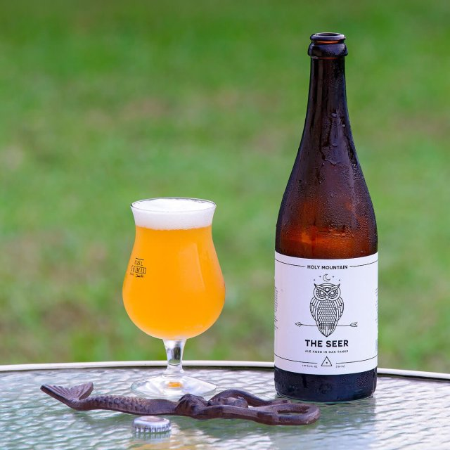 The Seer, a Belgian-style Saison by Holy Mountain Brewing Company