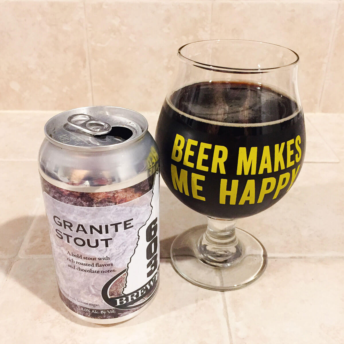 Granite Stout, an American Stout by 603 Brewery