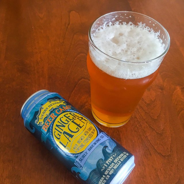 Ginger Lager, an American Lager collaboratively brewed by Sierra Nevada Brewing Co. and Surly Brewing Co.