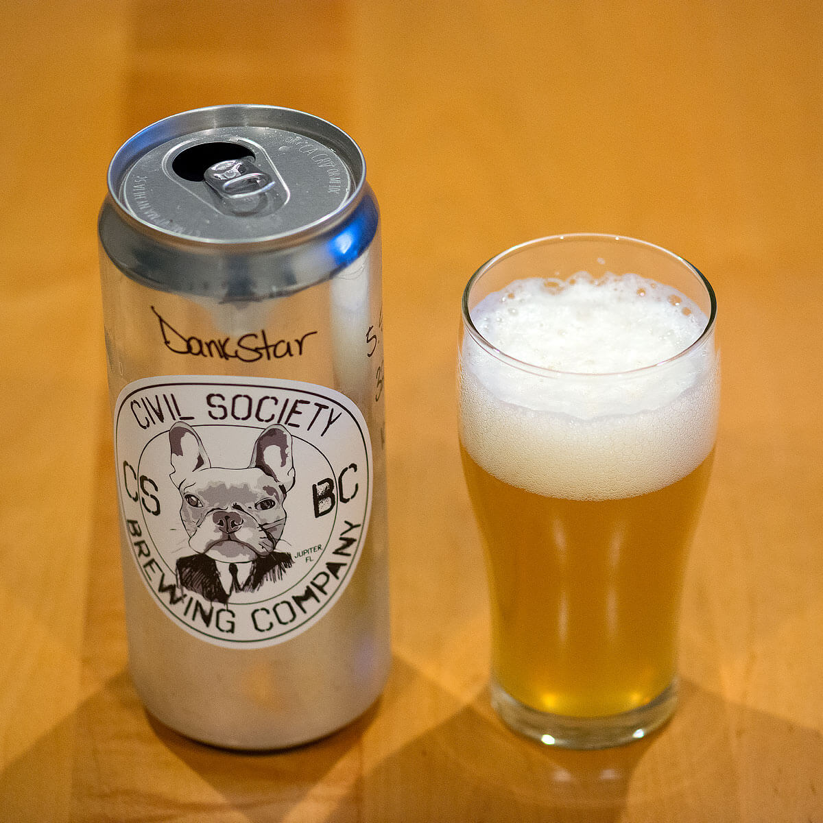 DankStar, an American Pale Ale (brewed in the New England style) by Civil Society Brewing Co.