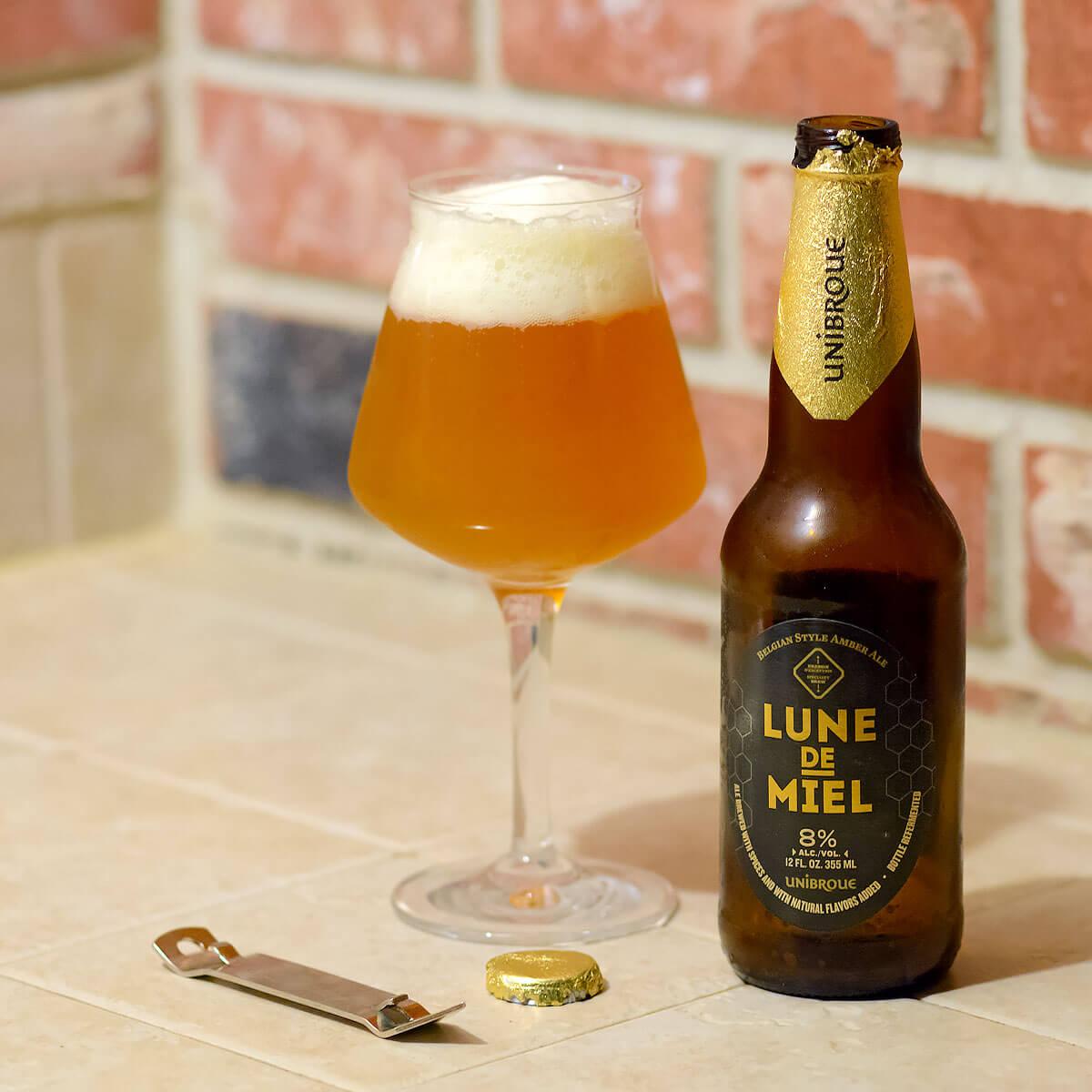 Lune De Miel, a Belgian-style Strong Pale Ale by Unibroue