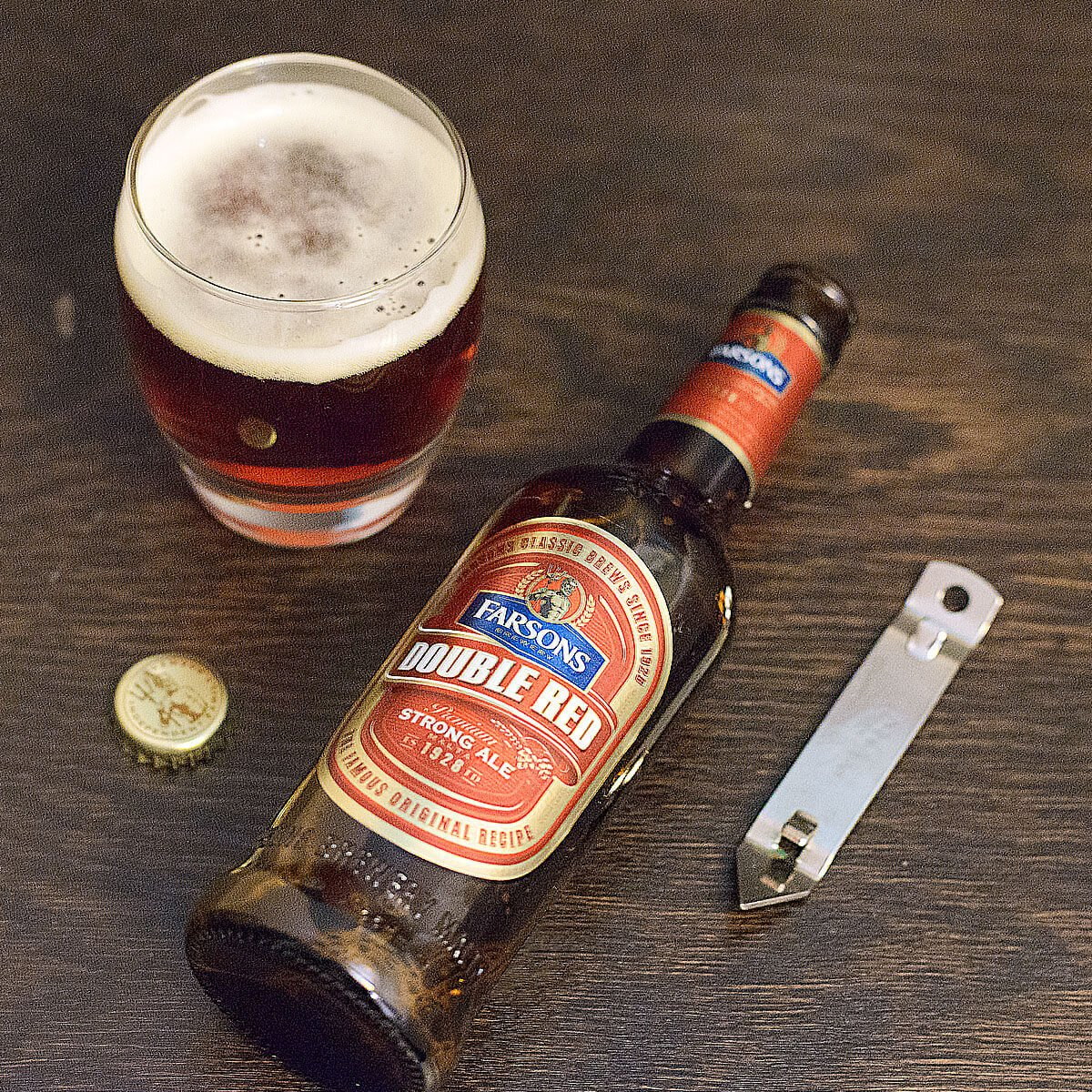 Double Red Strong Ale, an English-style Strong Ale by Simonds Farsons Cisk Plc.