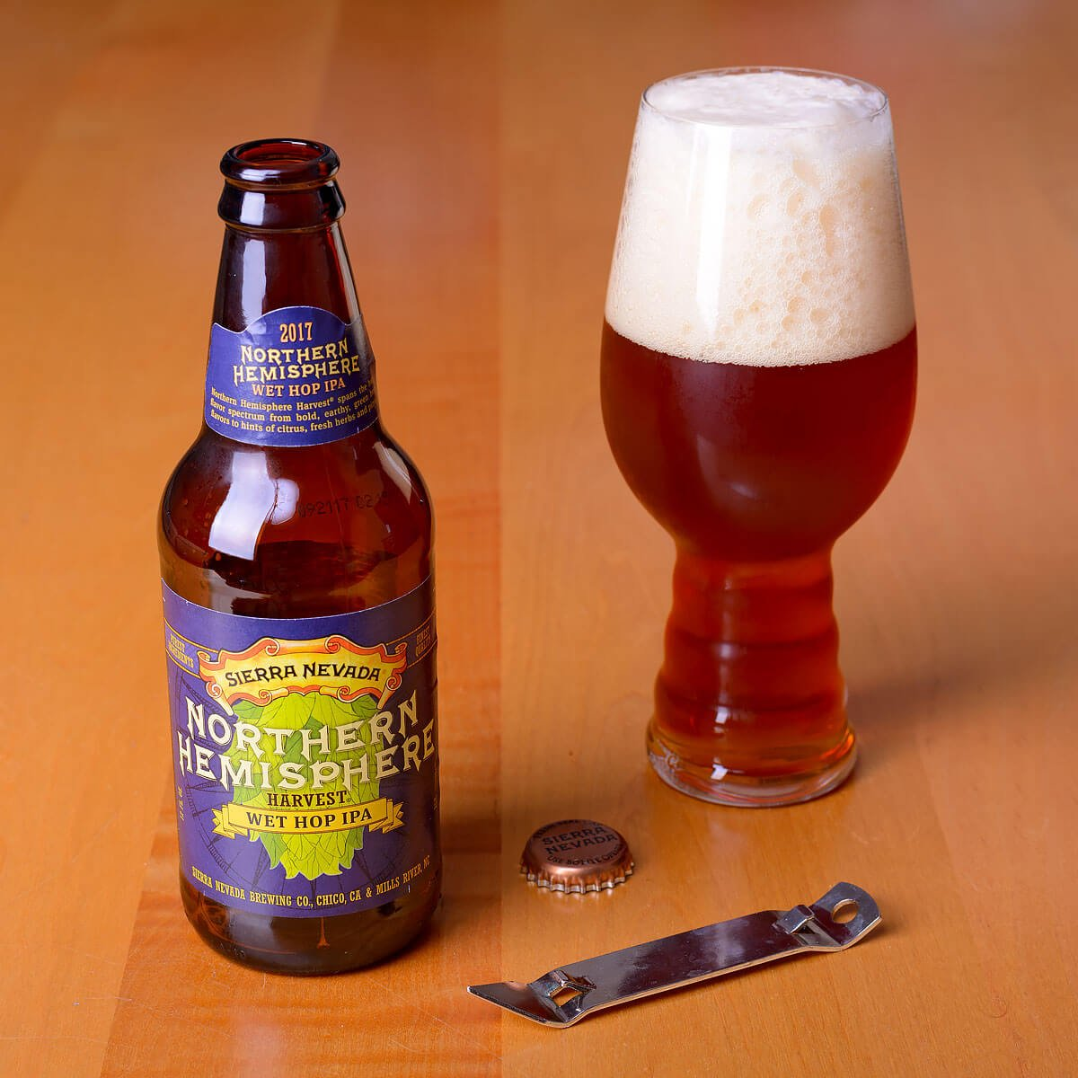 Northern Hemisphere Harvest, an American IPA by Sierra Nevada Brewing Co.