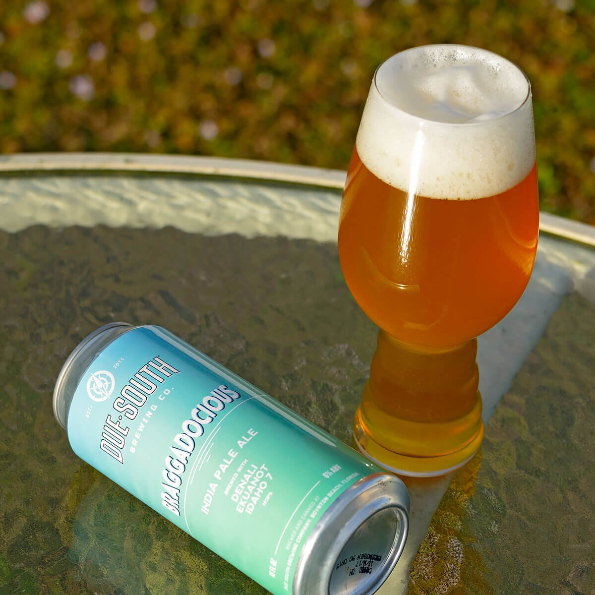 Braggadocious, an American IPA by Due South Brewing Co.