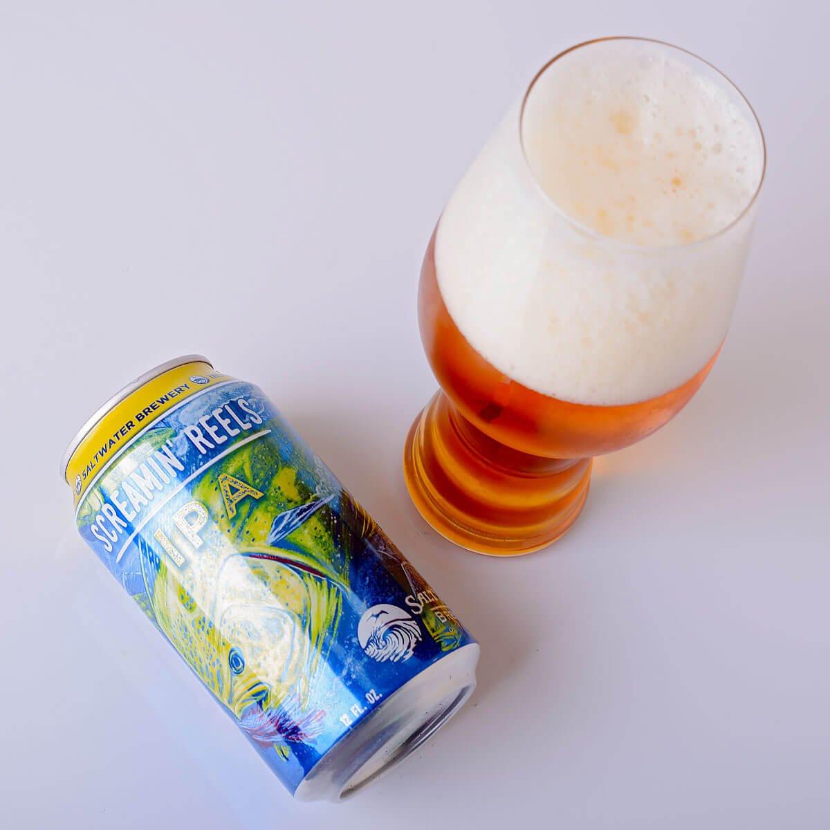 Screamin' Reels, an American IPA by SaltWater Brewery