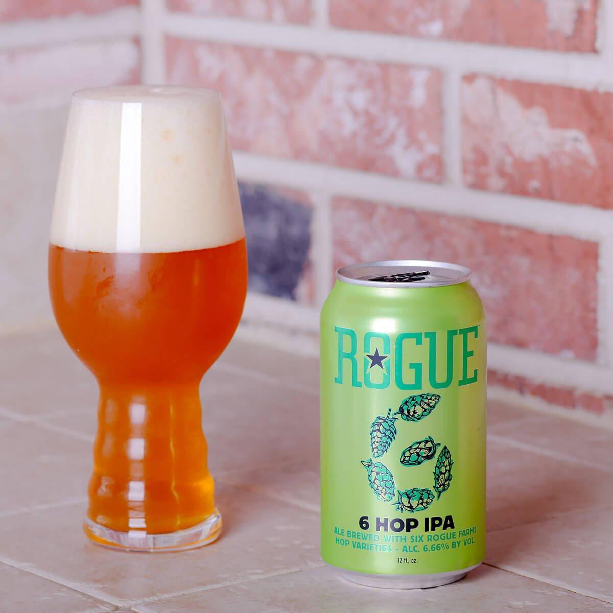 6 Hop IPA, an American IPA by Rogue Ales