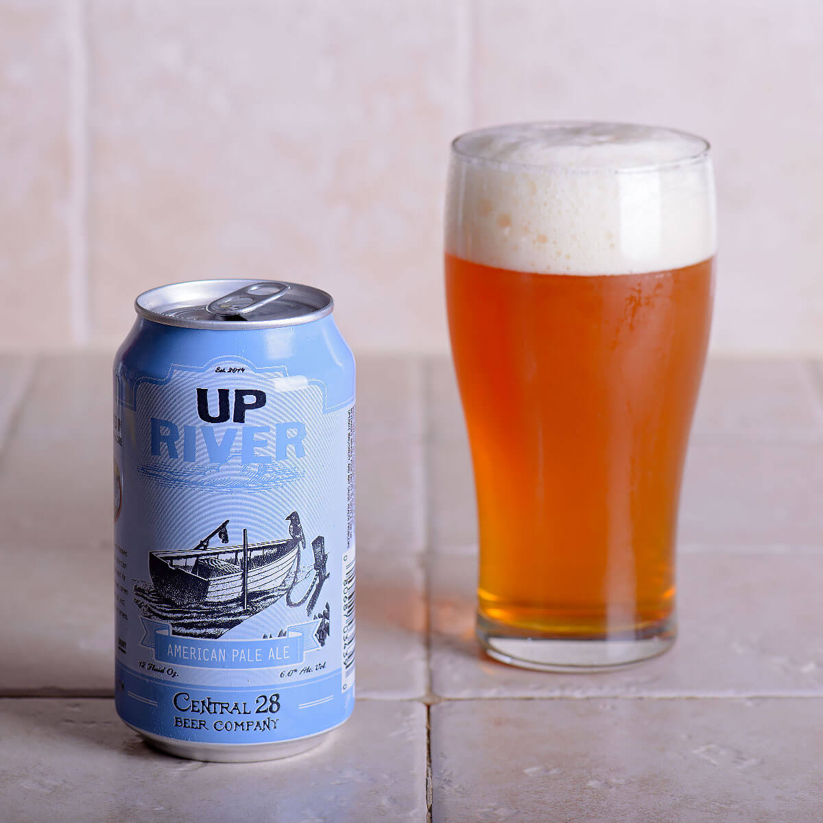 Up River, an American Pale Ale by Central 28 Beer Company