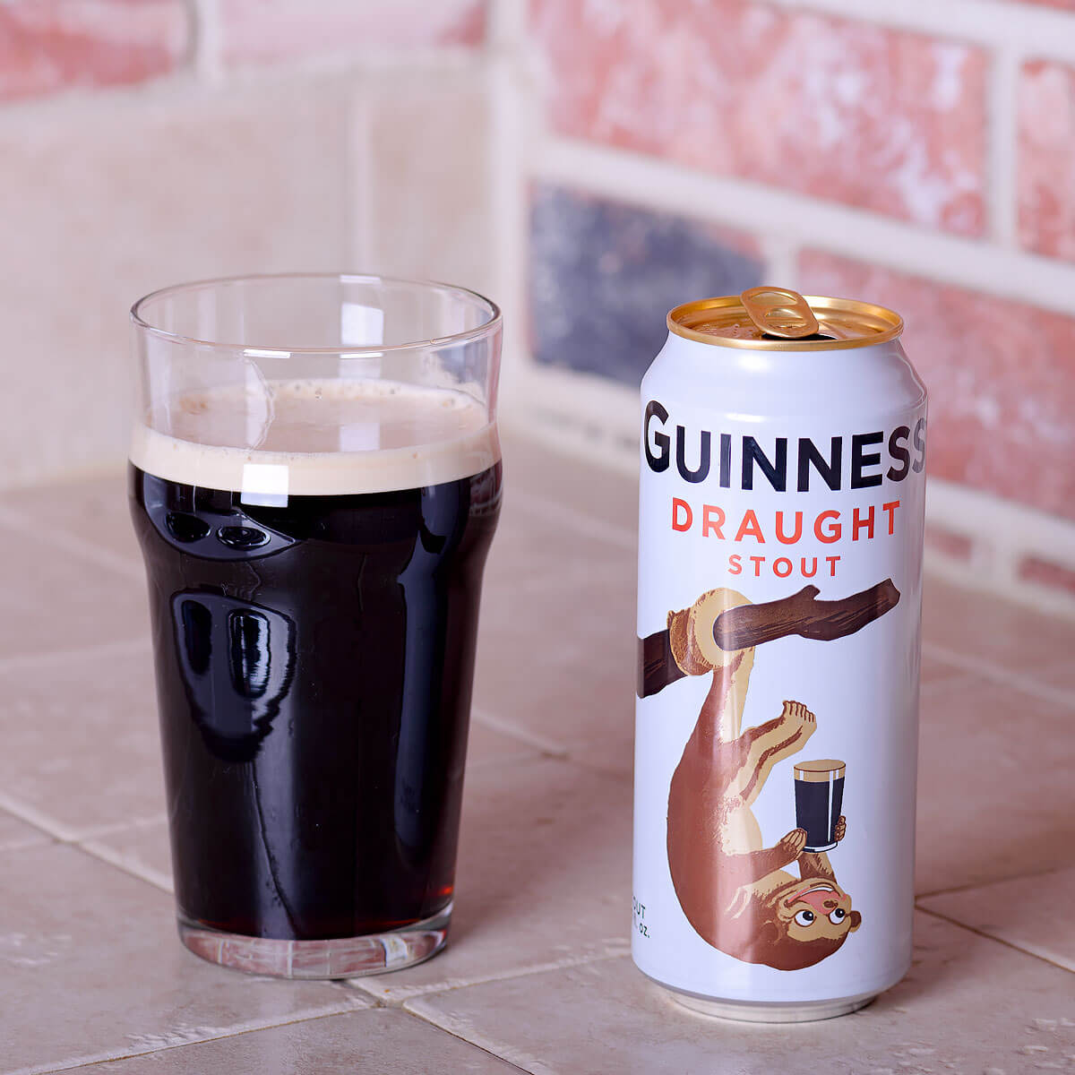Guinness Draught, an Irish Dry Stout brewed by Guinness Ltd.