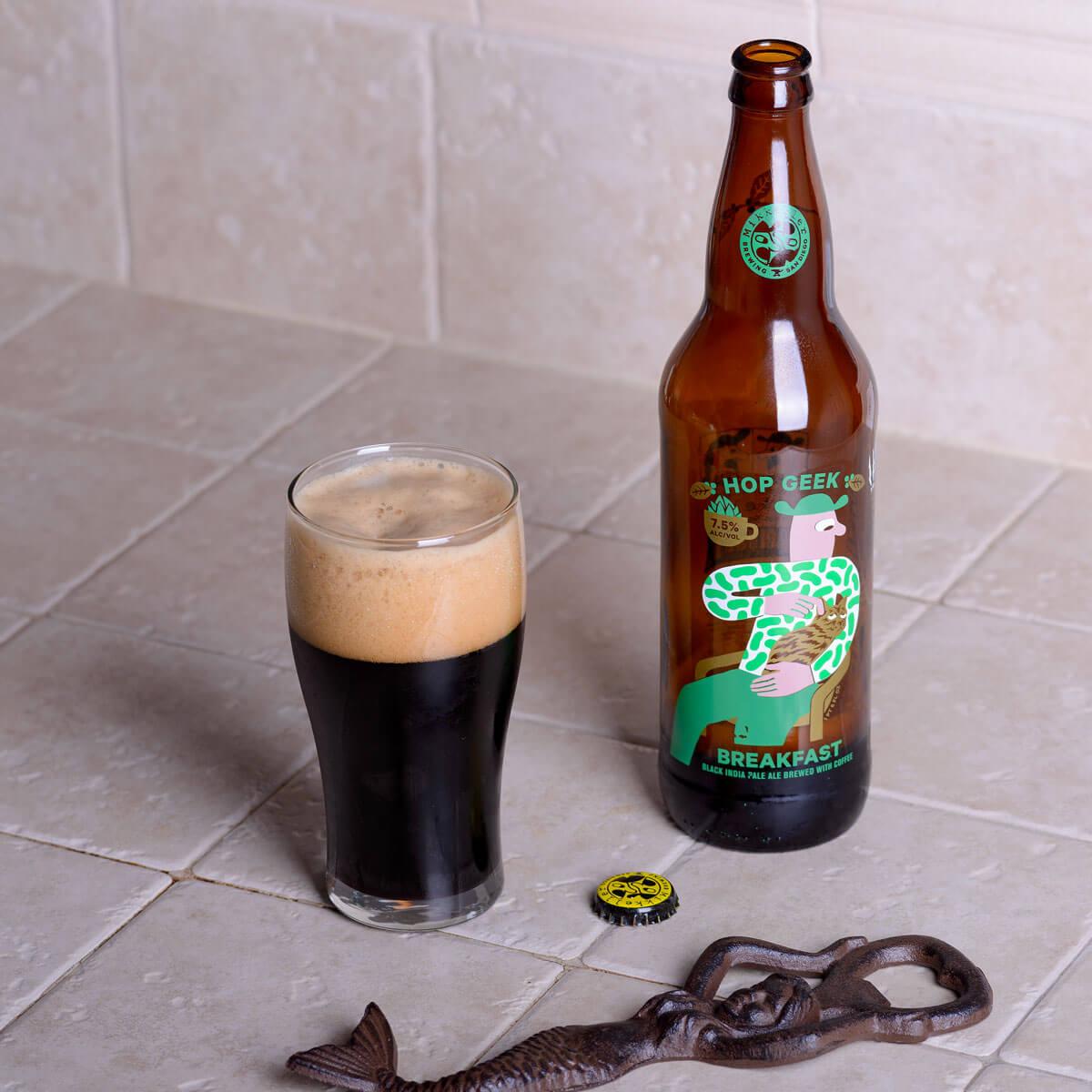 Hop Geek Breakfast, an American-style Black Ale by Mikkeller ApS