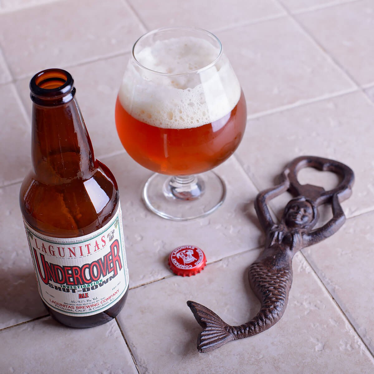 Undercover Investigation Shut-Down Ale, an American Strong Ale by Lagunitas Brewing Company