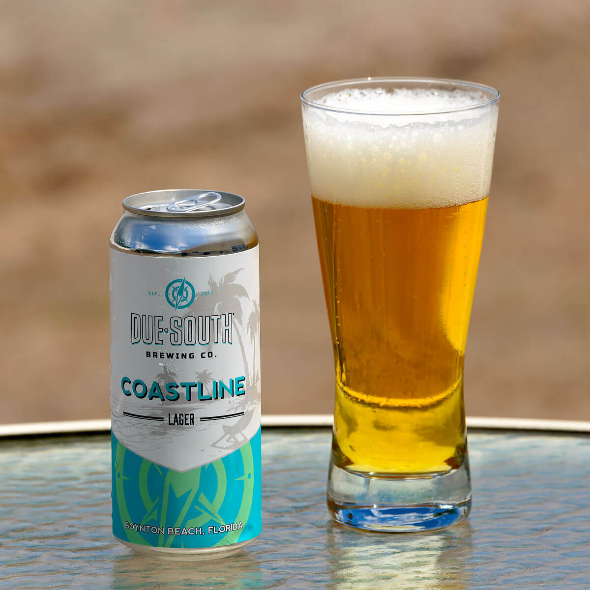 Coastline Lager, an American Pale Lager by Due South Brewing Co.