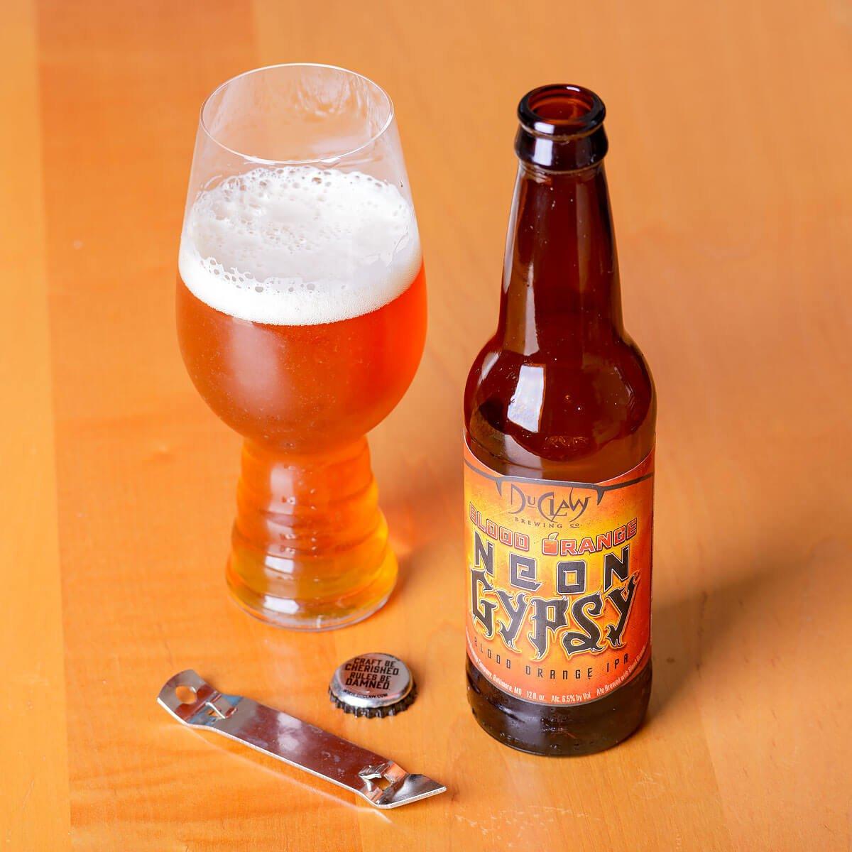 Blood Orange Neon Gypsy, an American IPA by DuClaw Brewing Company